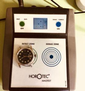 Máy khử từ đồng hồ Horotec tại WatchCare.vn