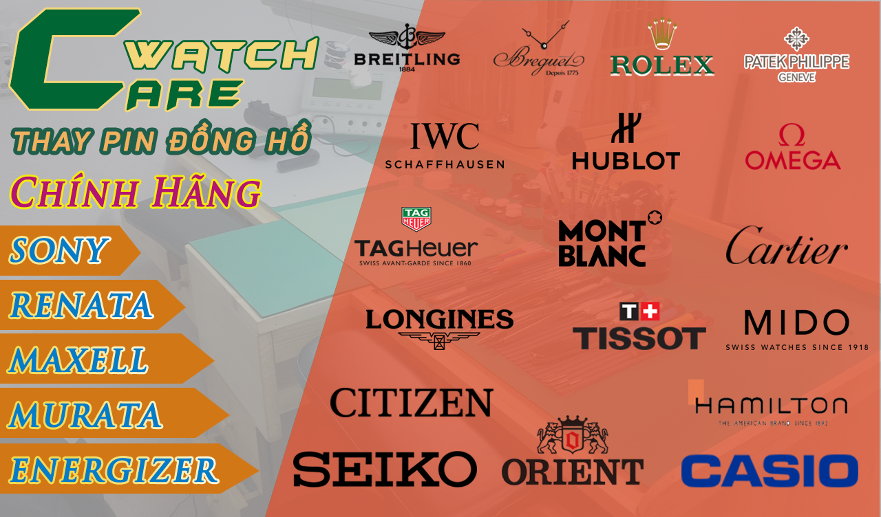 THAY PIN ĐỒNG HỒ ĐEO TAY WATCHCARE.VN