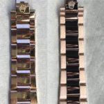 Đánh bóng dây vàng đặc 18k đồng hồ rolex