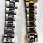 Đánh bóng dây đồng hồ Rolex Oyster