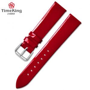 Dây da TimeKing 6003B đỏ nhũ bóng