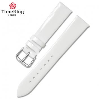 Dây da TimeKing 6003B trắng nhũ bóng