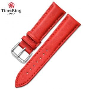 Dây da timeking 6005A đỏ nhạt sần loại dày