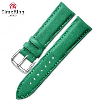 Dây da timeking 6005A xanh lá sần loại dày